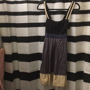 Silence and noise mix media dress. Size M